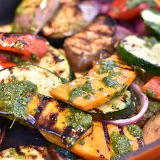 Courgettes grillées au barbecue