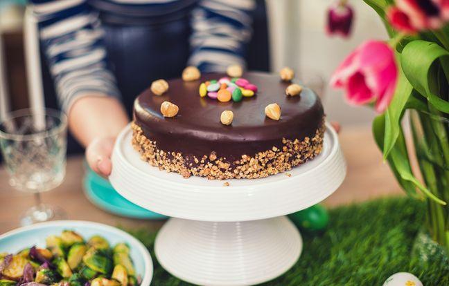 Gâteau avec restes de chocolats de Pâques