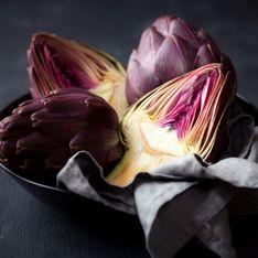 Artichauts violets cuits à la vinaigrette