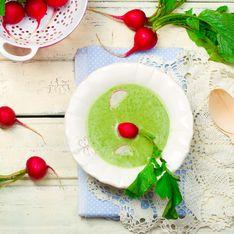 Soupe aux fanes de radis