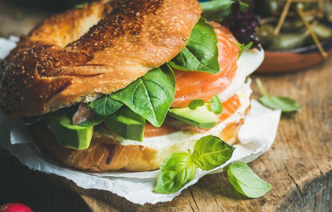 Bagel saumon et fromage frais