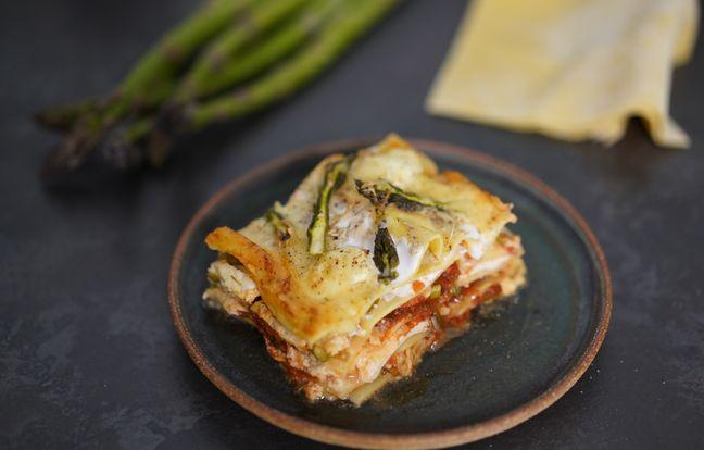 Lasagnes carré frais et asperges avec Hervé Cuisine