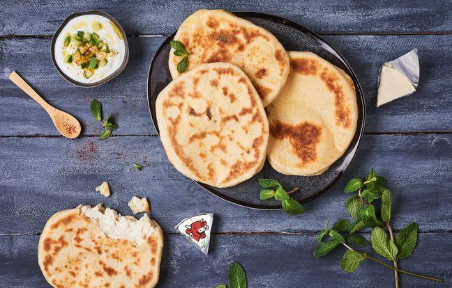 Cheese naan La Vache qui Rit®