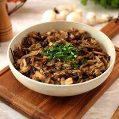 Poêlée de champignons et d'oignons