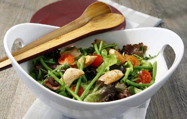 Salade de poulet et légumes croquants
