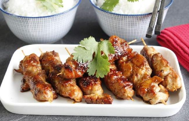 Brochettes de poulet façon yakitori