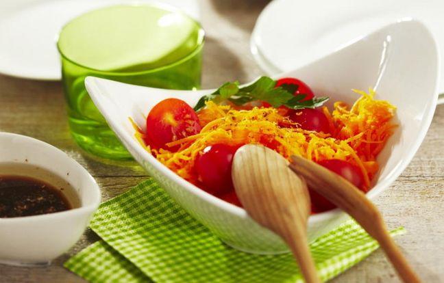 Salade de carottes et vinaigrette à l'orange