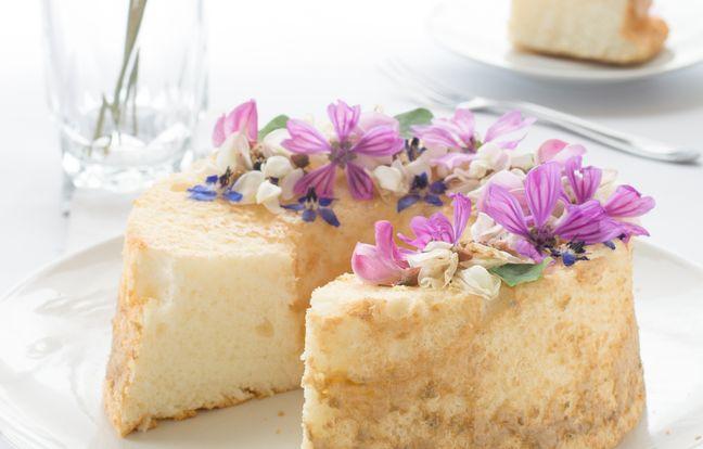 Gâteau au yaourt aux fleurs