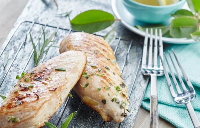 Brochettes de poulet au citron et herbes de Provence