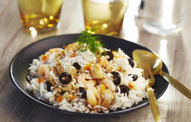 Salade de riz au cabillaud