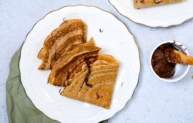 Les petites crêpes noisette coulis chocolat