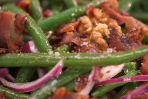 Salade de haricots verts aux noix par Laurent Mariotte