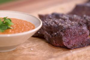 Onglet de bœuf sauce satay par Laurent Mariotte