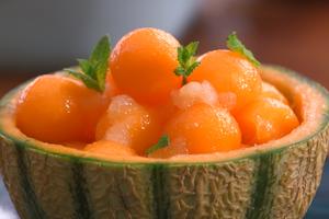 Melon au granité de Monbazillac par Laurent Mariotte