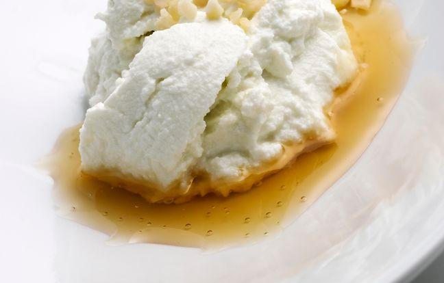 Crème glacée au miel d'acacia et au sirop de lavande