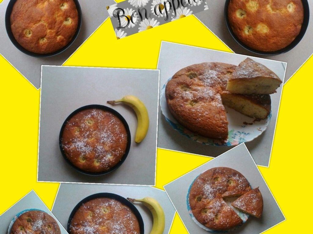 Gâteaux au yaourt et à la banane