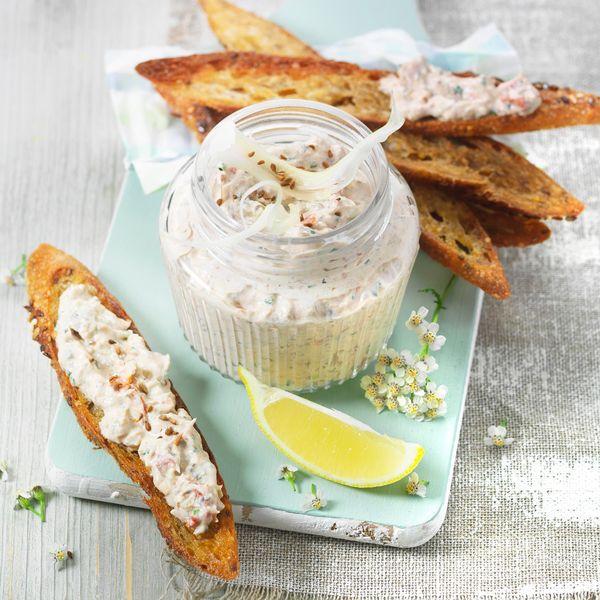 Rillettes de sardines au St Môret et aromates
