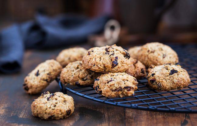 Cookies chocolat cranberries et graines