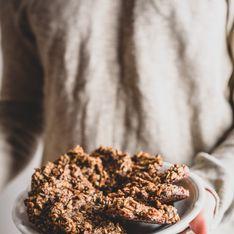 Cookies bananes-chocolat noir et flocons d'avoine sans sucre