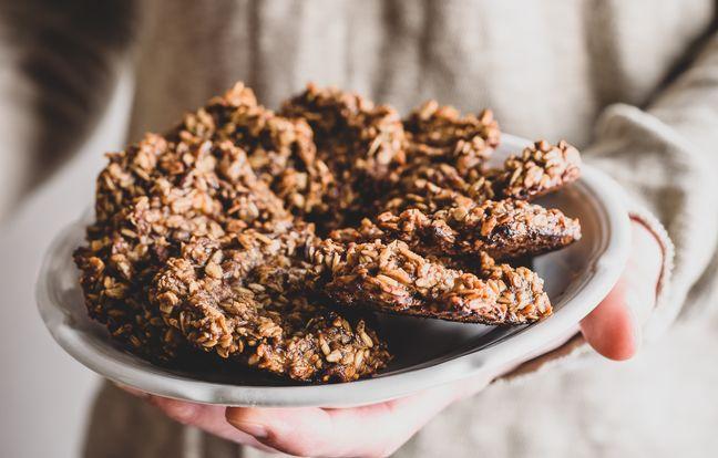 Cookies flocons d'avoine, banane, chocolat