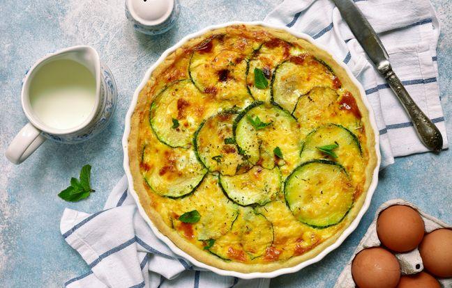 Tarte courgette curry et pistache