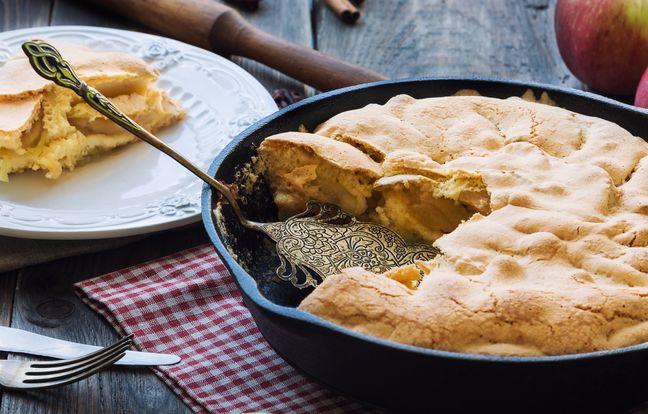 Recette de gâteau aux pommes sans four, à la poêle