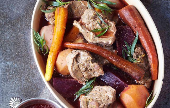 Pot-au-feu à l'agneau et aux légumes oubliés
