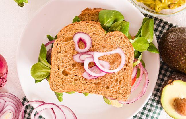 Club sandwich végétarien délicieux