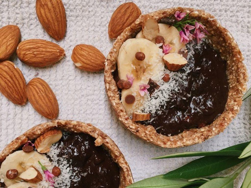 Tartelettes sans sucre banane chocolat