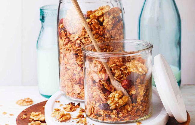 Granola noix, noisettes, chocolat maison