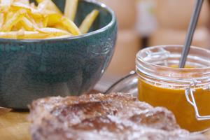 Basse-côte grillée, ketchup maison par Laurent Mariotte