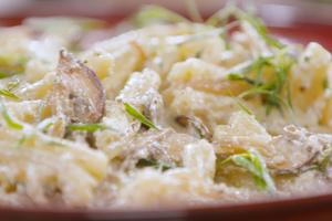 Pâtes aux champignons et noix de cajou par Laurent Mariotte