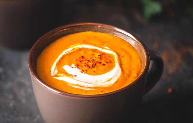 soupe potiron, coco, gingembre