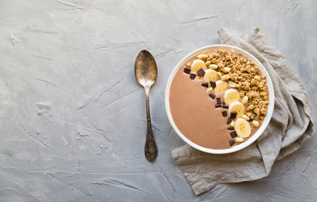 Smoothie bowl chocolat banane
