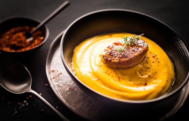 Crème potimarron & foie gras au Cookeo