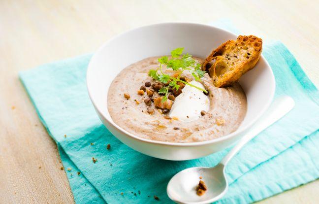 Soupe de lentilles et lardons au Cookeo
