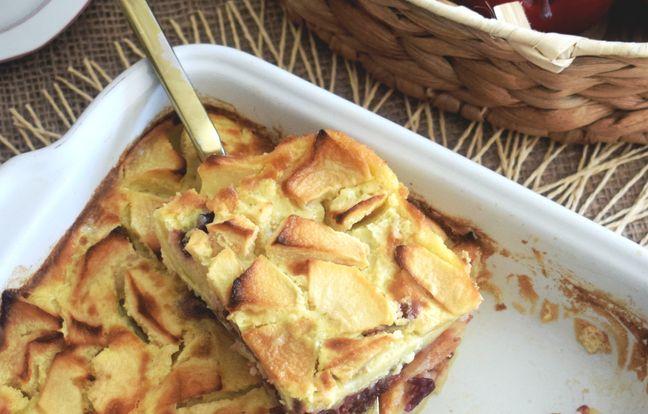 Far aux pommes et aux cranberries