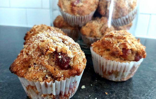 Muffins de blé entier aux bleuets