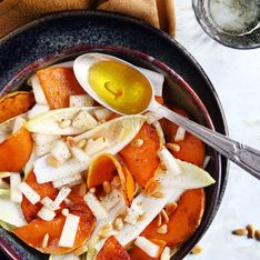 Salade de courge butternut, endives et poires