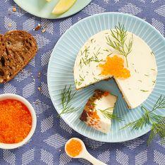 Cheesecake salé chèvre oeufs de truite