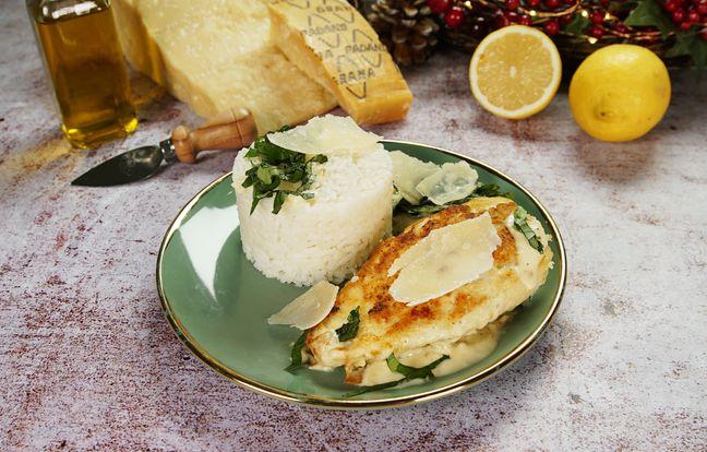 Poulet à la crème au citron et au Grana Padano