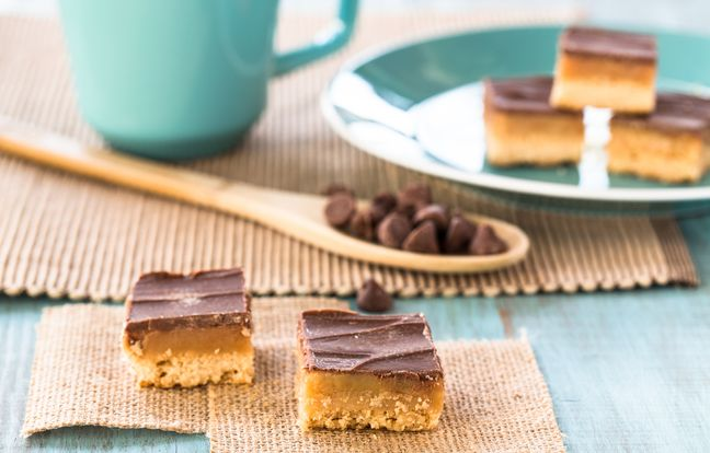 Chocolate and caramel shortbread ou Millionaire - Gâteau Ecossais