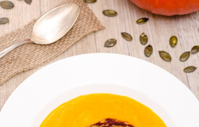 Soupe veloutée de potimarron et pommes de terre