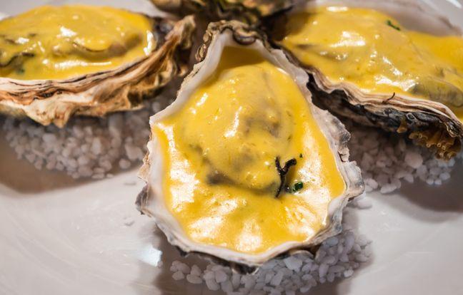 Huîtres chaudes au sabayon de champagne, la recette