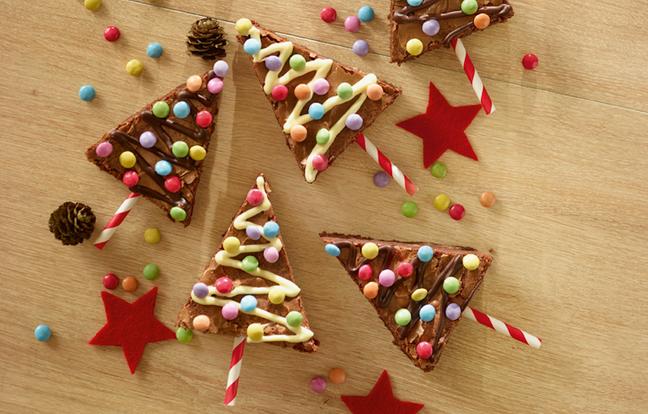 Brownie sapin au chocolat