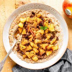 Porridge crémeux pomme cannelle