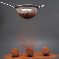 Truffes au chocolat et au poivron rouge