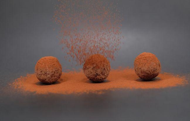 Truffes au chocolat au poivron