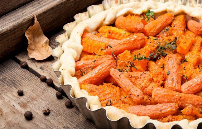 Tarte aux carottes vegan