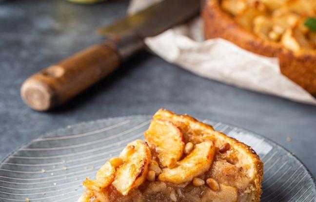Tarte aux pommes, crème de marron et cannelle